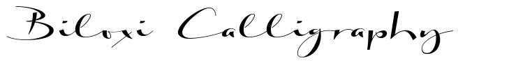 Biloxi Calligraphy font
