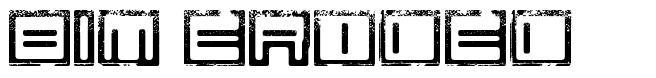 Bim eroded font