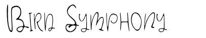 Bird Symphony 字形