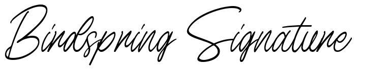 Birdspring Signature