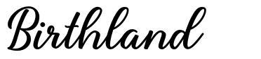 Birthland font