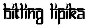 Bitling Lipika шрифт