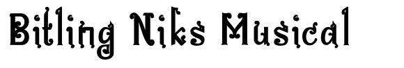 Bitling Niks Musical font