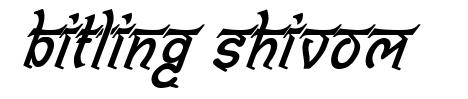 Bitling Shivom font