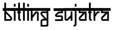 Bitling Sujatra フォント