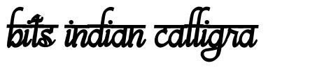Bits Indian Calligra font