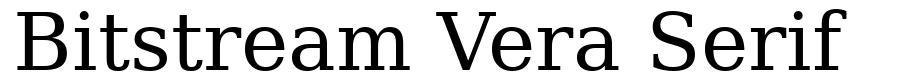 Bitstream Vera Serif font