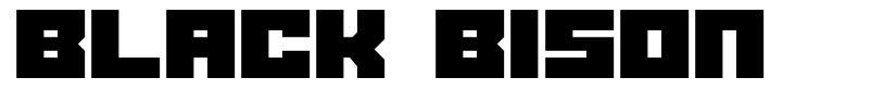 Black Bison font