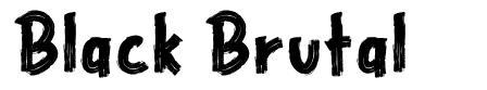 Black Brutal písmo