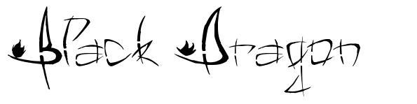 Black Dragon font