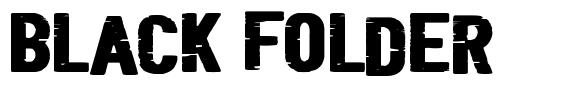 Black Folder フォント
