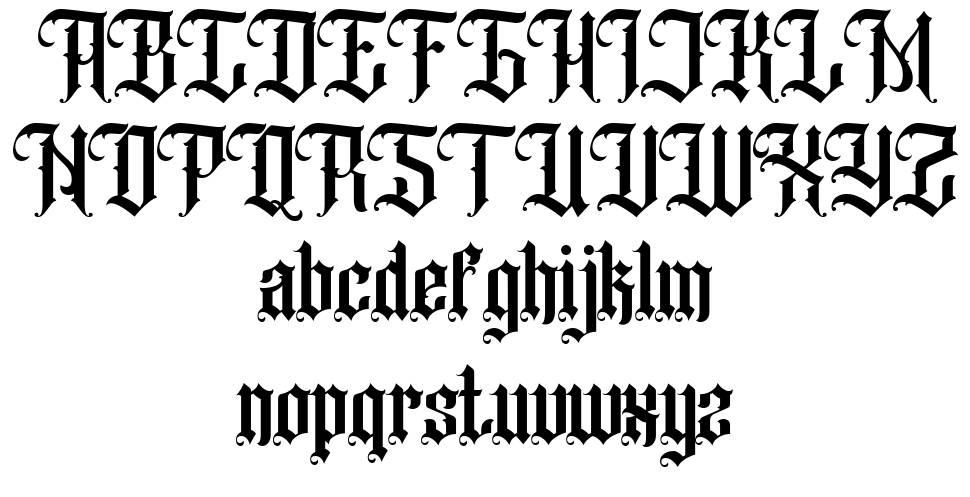 Black Klisse font
