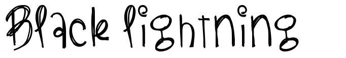 Black Lightning font