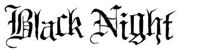Black Night 字形