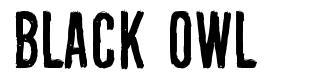 Black Owl font