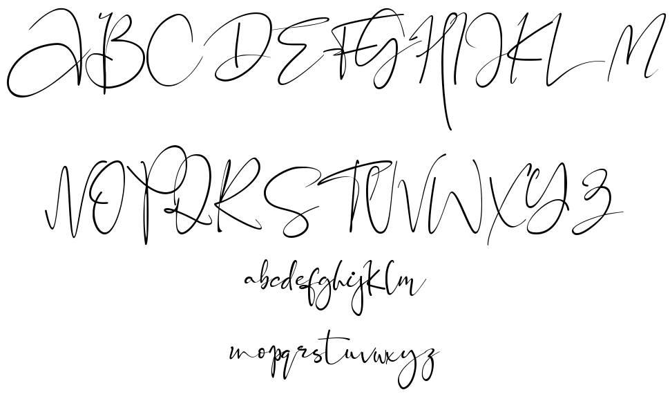 Black Pink Signature font