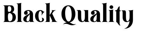 Black Quality písmo