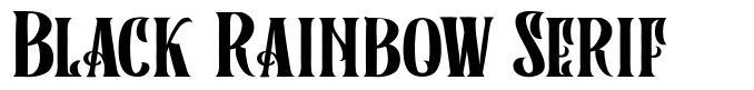 Black Rainbow Serif