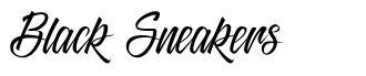 Black Sneakers fonte