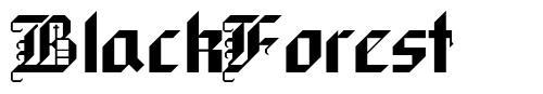 BlackForest 字形