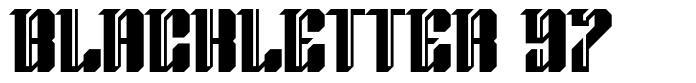 Blackletter 97 フォント