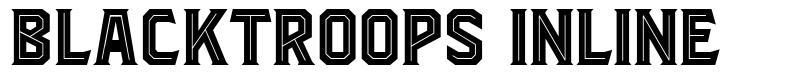 Blacktroops Inline font