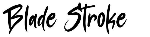 Blade Stroke