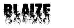 Blaize font