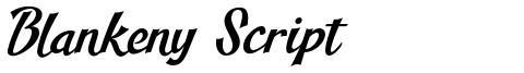 Blankeny Script