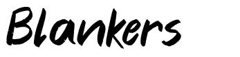Blankers font