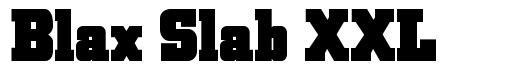 Blax Slab XXL font
