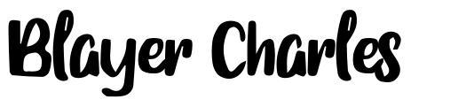 Blayer Charles písmo