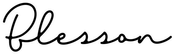 Blesson font