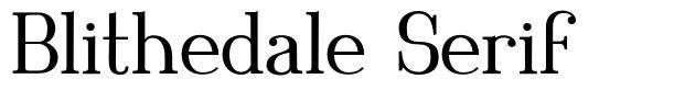 Blithedale Serif
