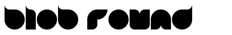 Blob Round font