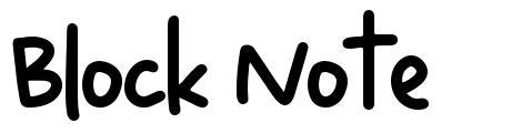 Block Note font