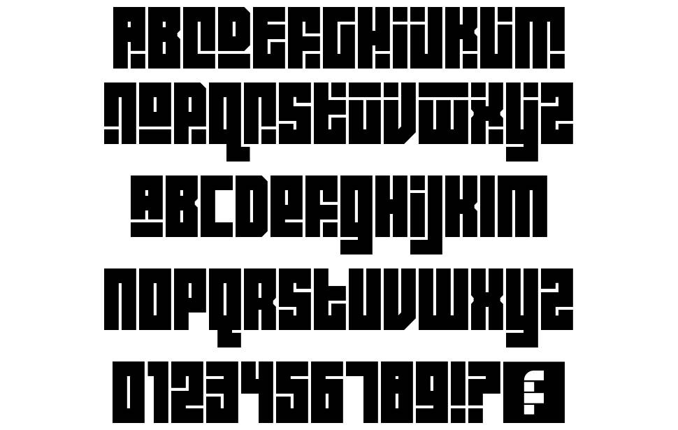 Block Out font