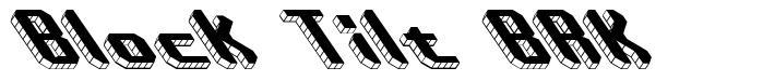 Block Tilt BRK font