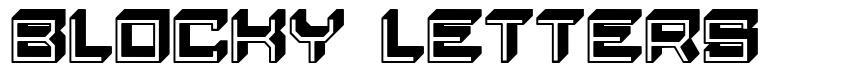 Blocky Letters font