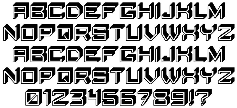 Blocky Letters font