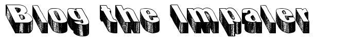Blog the Impaler フォント