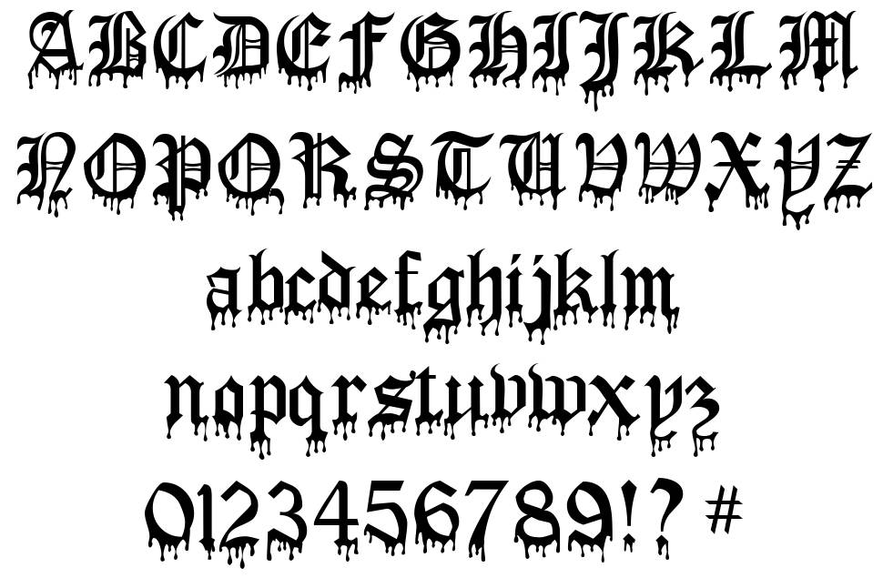 Blood Of Dracula font