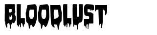 Bloodlust  font