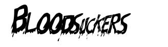 Bloodsuckers font