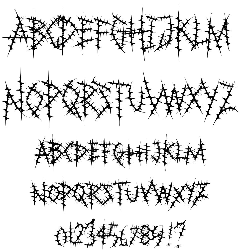 Bloody Durian font