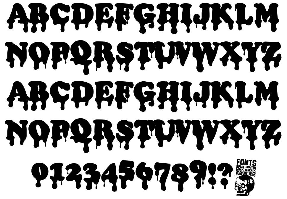 Bloody Office font