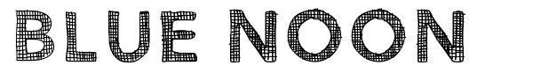 Blue Noon font