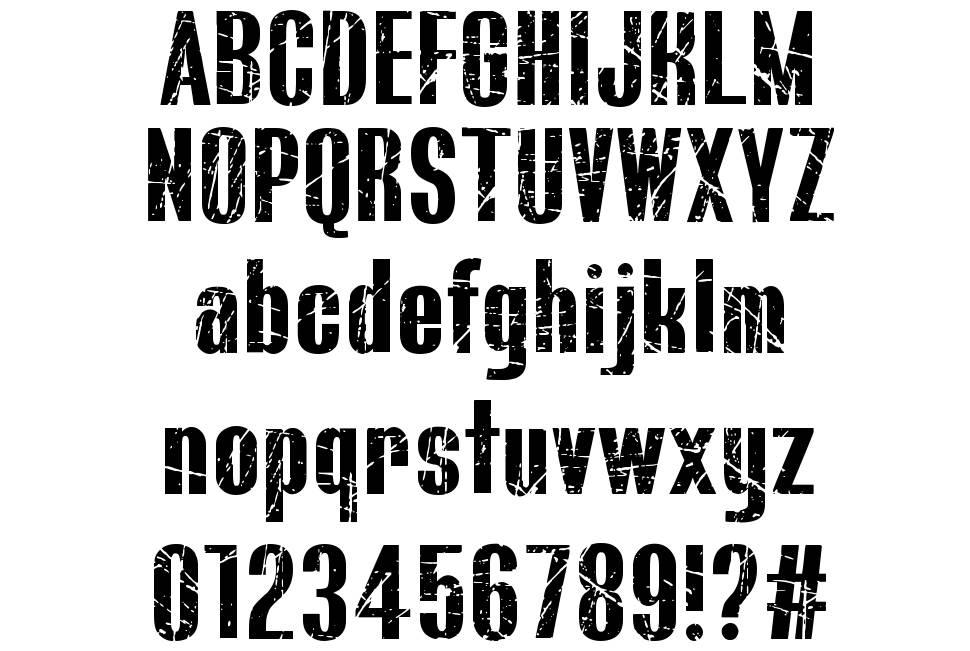 Bluefish Scratched font
