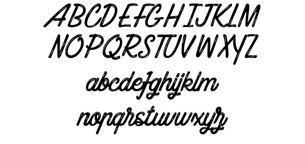 Blueline Paradise font