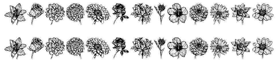 Blumen font